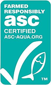 ASC logo for farmed responsibly certified of Ocean treasure